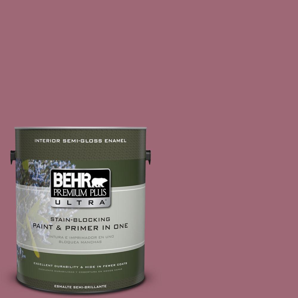 1-gal. #100D-5 Berries and Cream Semi-Gloss Enamel Interior Paint