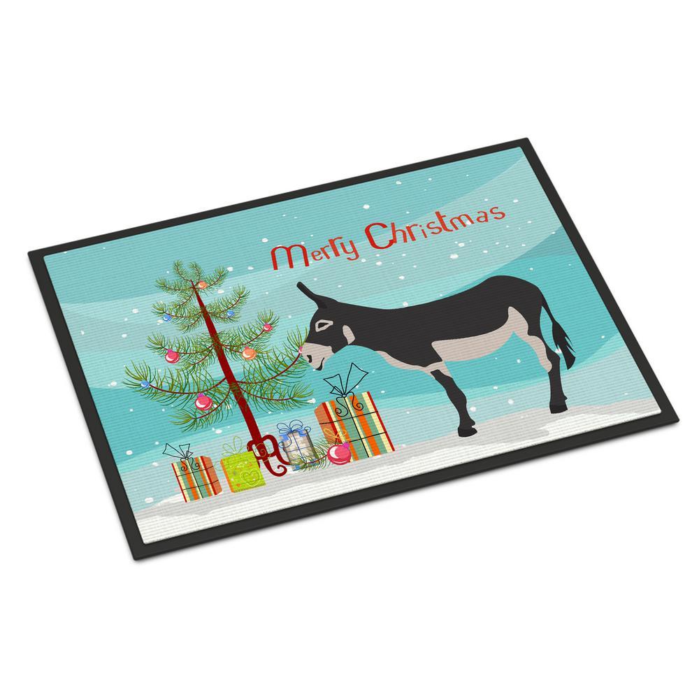 24 in. x 36 in. Indoor/Outdoor American Mammoth Jack Donkey Christmas Door Mat