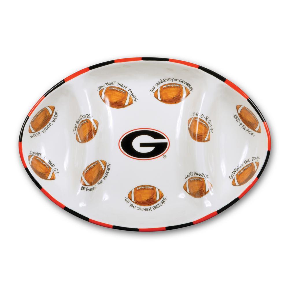 Georgia Ceramic Football Tailgating Platter