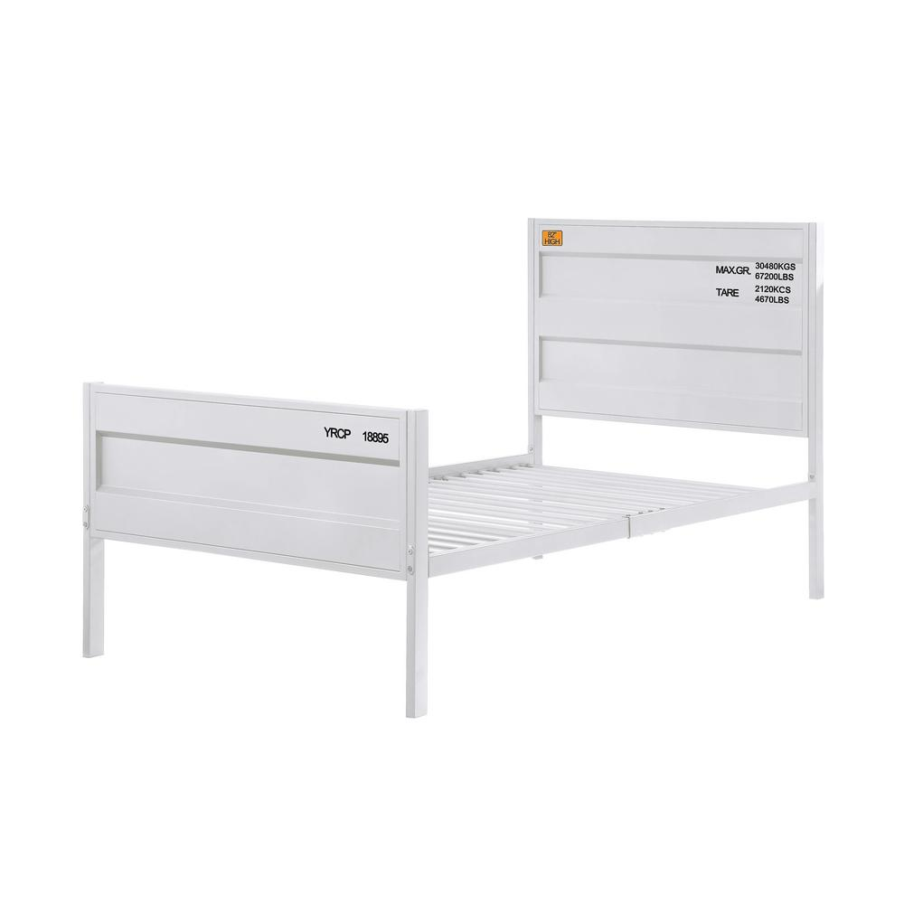 Cargo White Twin Bed