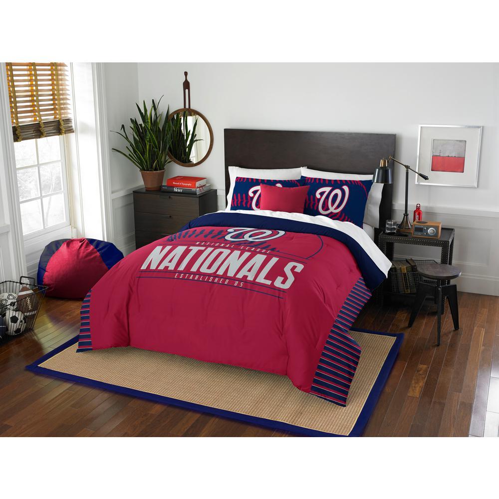 Nationals 3-Piece GrandSlam Multi Full and Queen Comforter Set