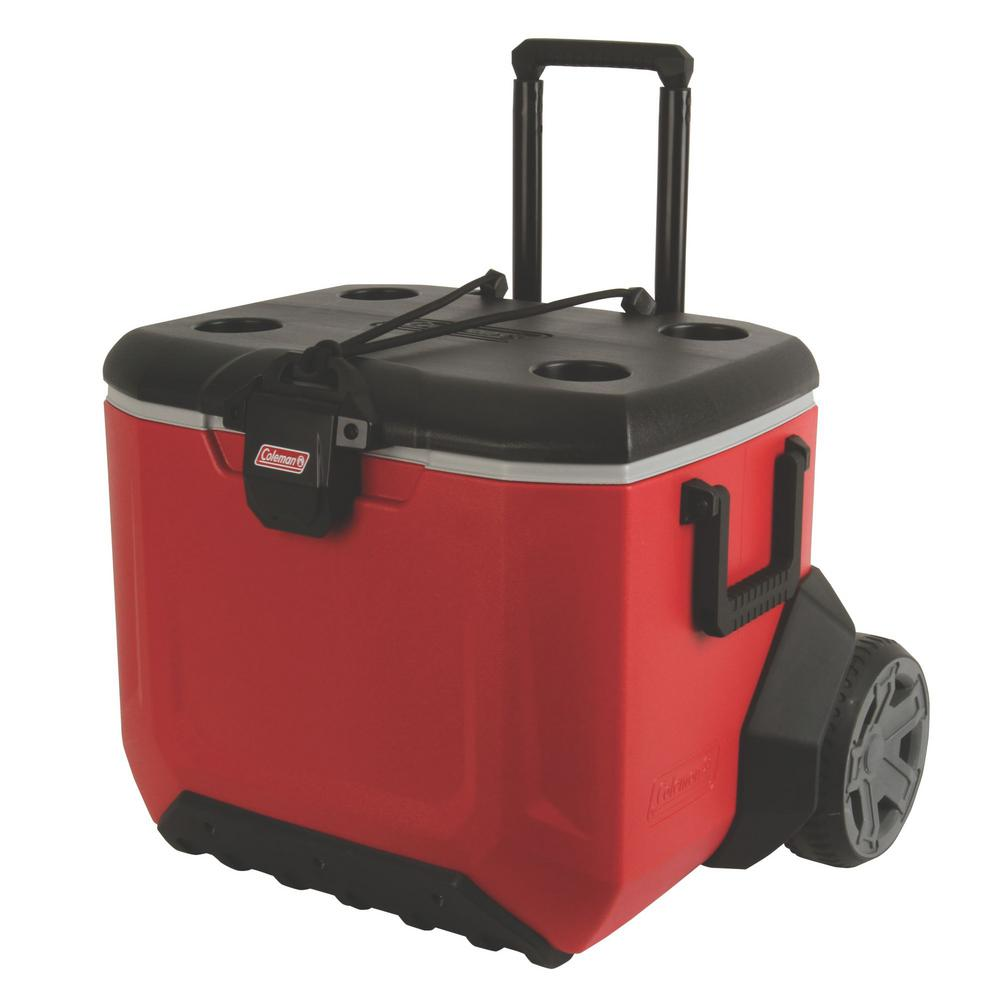 Coleman 2 Wheeled 55 Qt Rugged Cooler With Handle