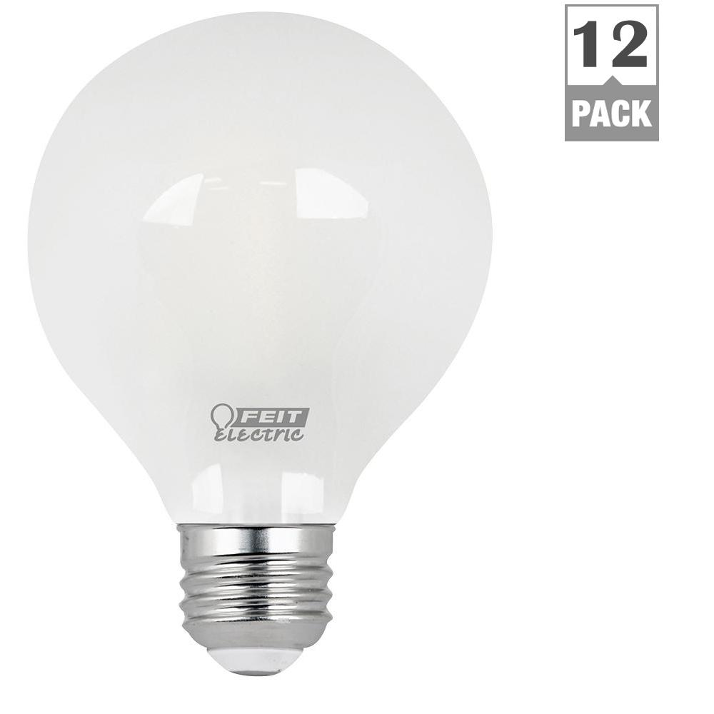 Feit Electric 40w Equivalent Soft White A19 Clear Filament: Feit Electric 40W Equivalent Daylight (5000K) G25 Dimmable