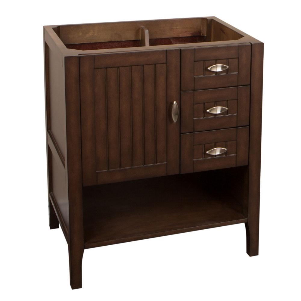 Ventura 29.2 in. Bath Vanity Cabinet Only in Sable Walnut without