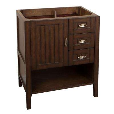 Ventura 29.2 in. Bath Vanity Cabinet Only in Sable Walnut without Vanity Top