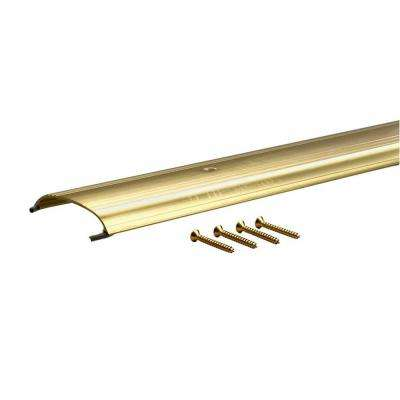 0.625 in. x 3.5 in. x 72 in. Low Dome Top Brite-Dip Gold Threshold