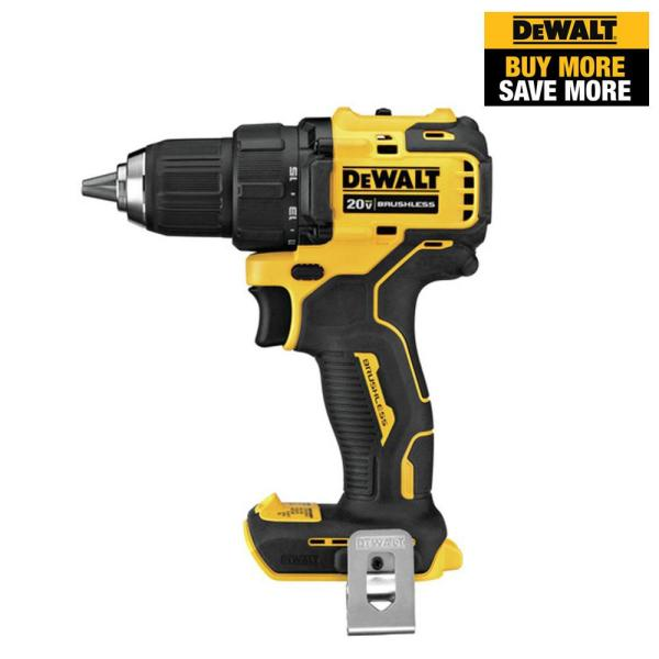 ATOMIC 20-Volt MAX Brushless Cordless 1/2 in. Drill/Driver (Tool-Only)