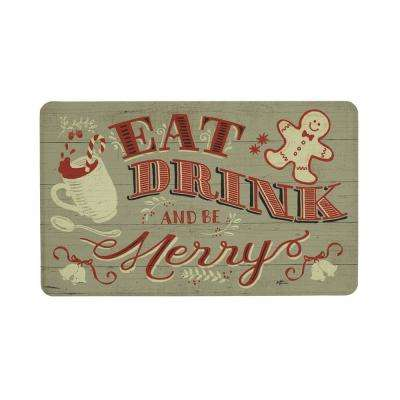 Eat Drink Merry in the Woods 22 in. x 36 in. Prestige Kitchen Mat