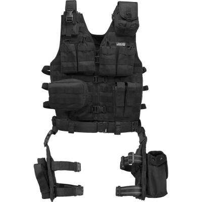 Loaded Gear 22.5 in. VX-100 Tactical Vest and Leg Platform, Black