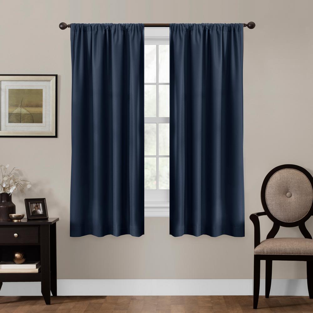 Julius 50 in. x 63 in. 100% Blackout Smart Curtain Window Panel