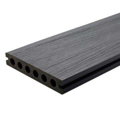 UltraShield Naturale Voyager Series 1 in. x 6 in. x 16 ft. Westminster Gray Hollow Composite Decking Board (10-Pack)