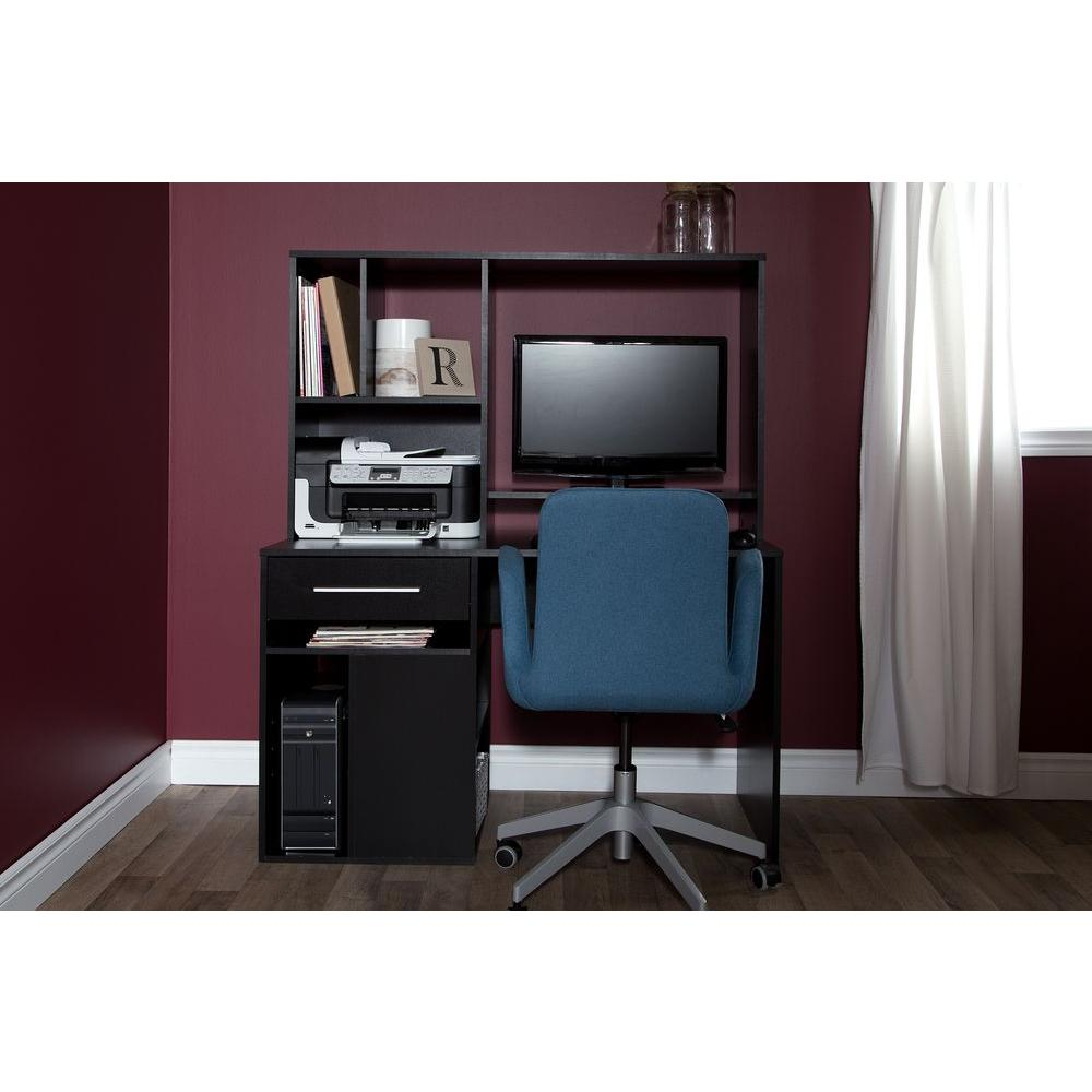 home office computer desk furniture. South Shore Annexe Pure Black Desk Home Office Computer Furniture S
