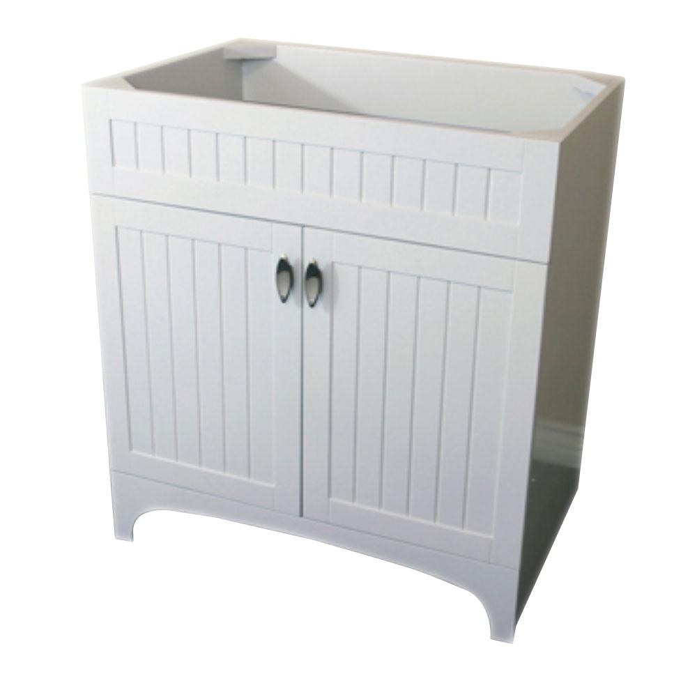 Bellaterra home tehama 31 in bath vanity cabinet only in - White bathroom vanity without top ...