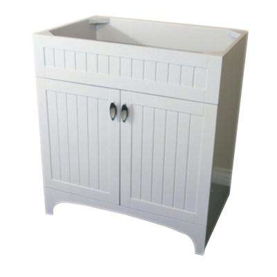 Tehama 31 in. Bath Vanity Cabinet Only in White without Vanity Top