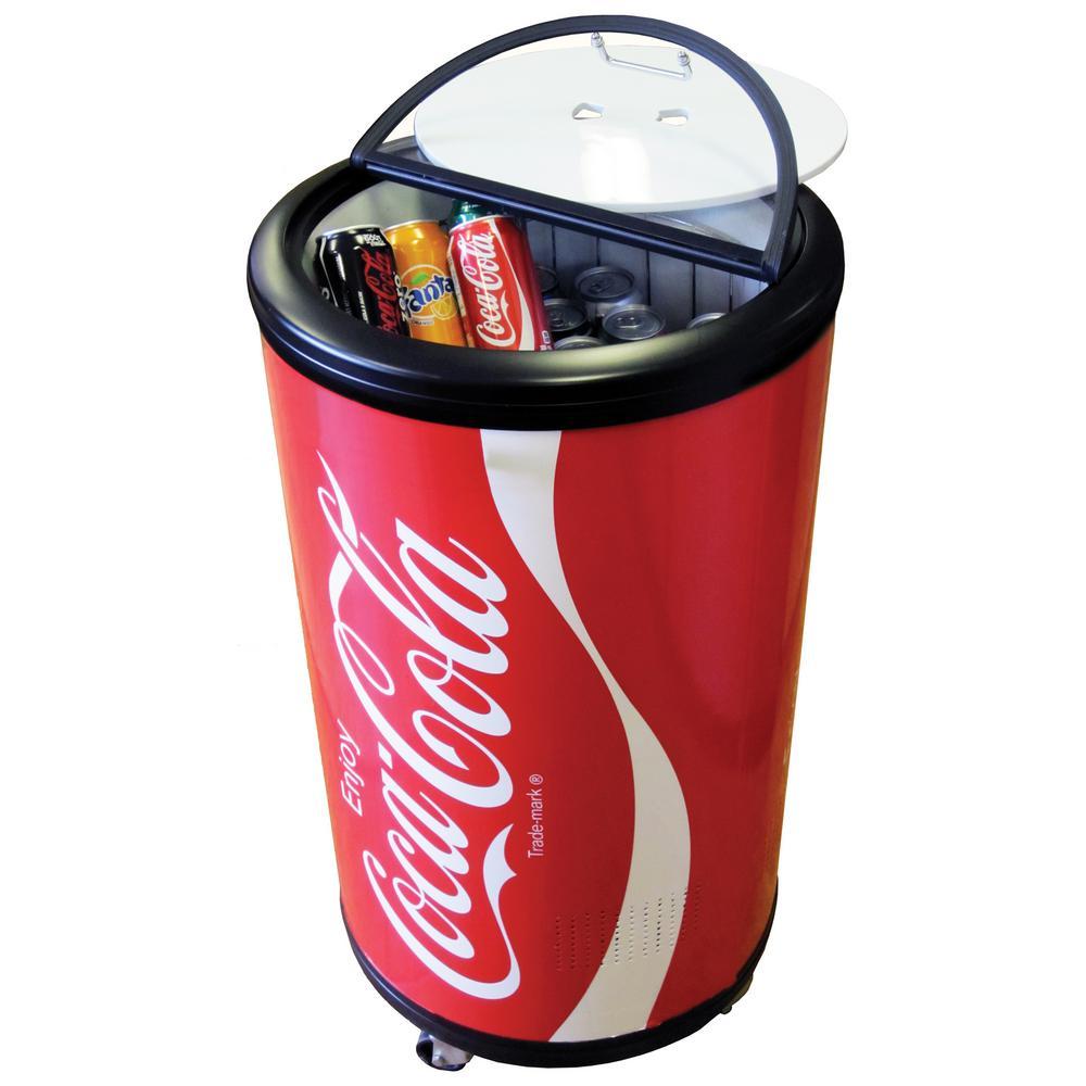 Coca Cola Fridge >> Coca Cola 1 77 Cu Ft Mini Fridge In Red Ccpc50 The Home Depot