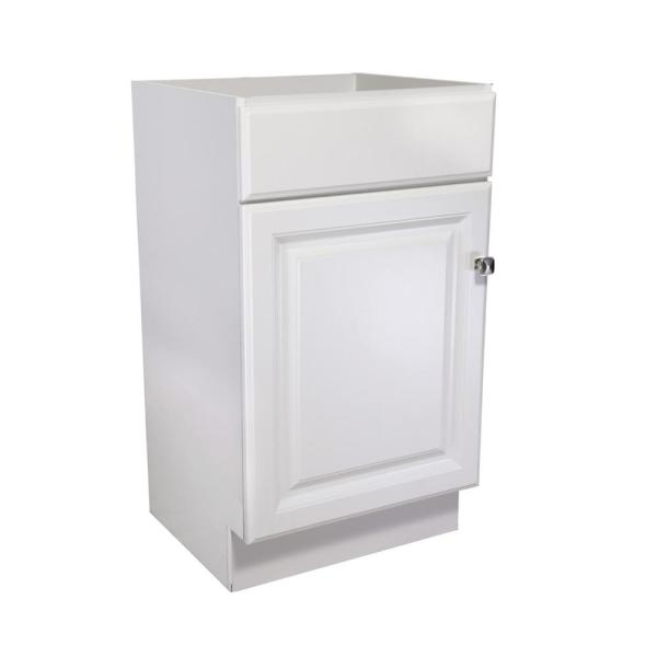 Wyndham 18 in. W x 16-1/4 in. D Vanity Cabinet Only in White Semi-Gloss
