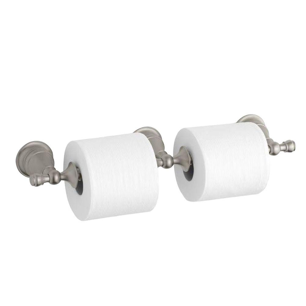 Kohler Revival Double Toilet Paper Holder In Vibrant Brushed Nickel