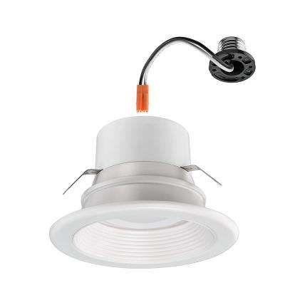 4 in. Lumen and Color Changeable White Integrated LED Recessed Downlight Trim