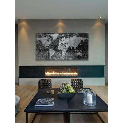 """30 in. H x 60 in. W """"Lost in the World 2"""" by Parvez Taj Printed Brushed Aluminum Wall Art"""