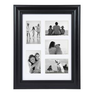 Dalat 12 in. x 16 in. Matted to (5) 4 in. x 6 in. Black Picture Frame