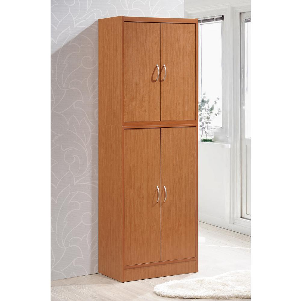4-Door Cherry Kitchen Pantry