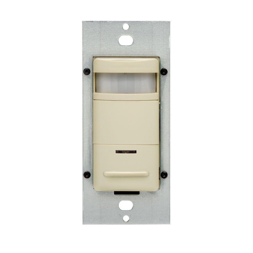 Leviton Decora Passive Infrared Occupancy Sensor with LED Adjustable Night Light, Ivory
