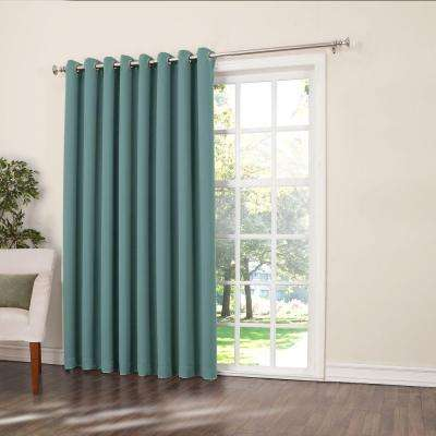 Semi-Opaque Mineral Gregory Room Darkening Grommet Top Patio Panel, 100 in. W x 84 in. L