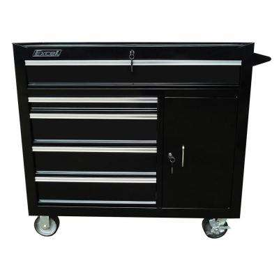 41 in. Steel Roller Cabinet, Black