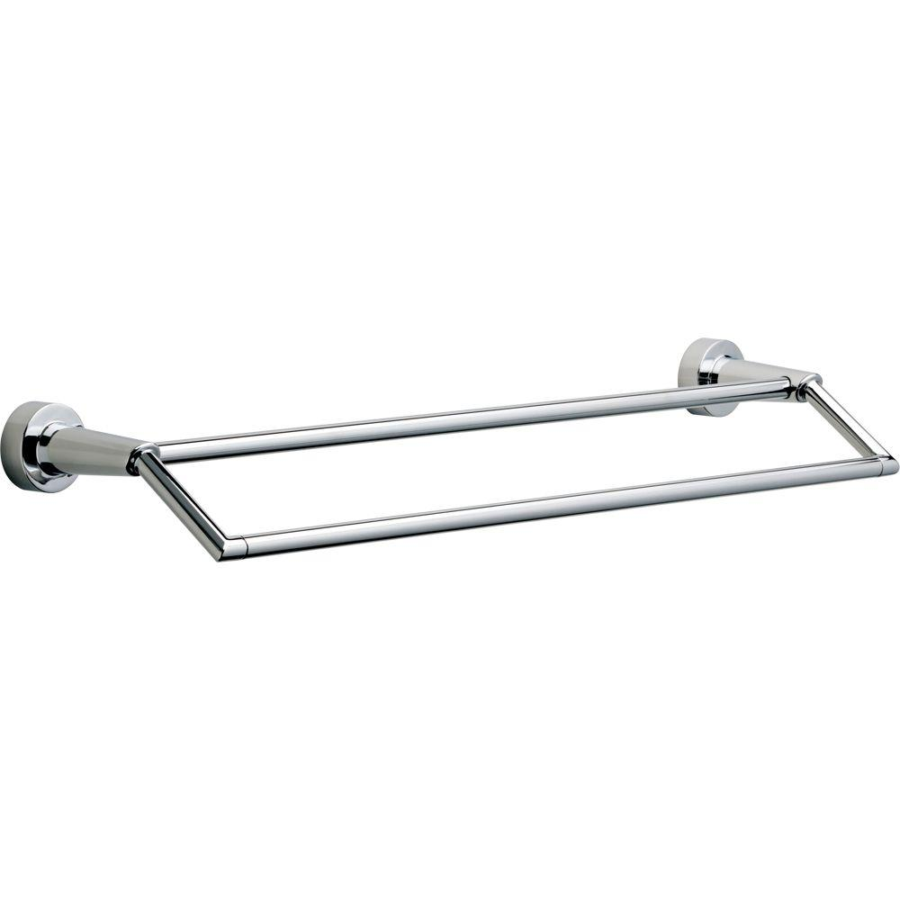 Compel 25 in. Double Towel Bar in Chrome