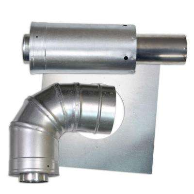 3 in. x 5 in. Horizontal Stainless Steel Concentric Termination Vent Kit for Mid Efficiency Tankless Gas Water Heaters