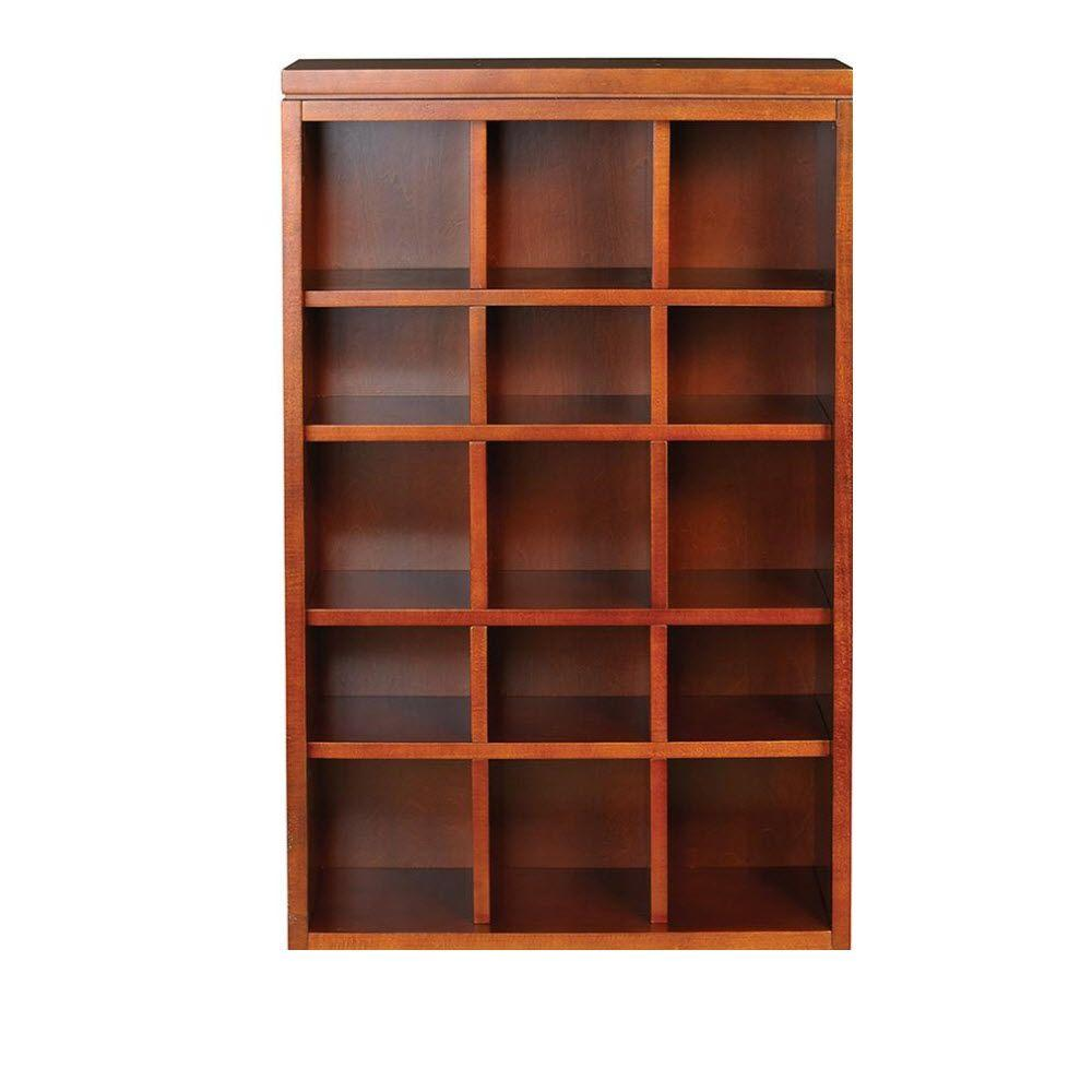 Martha Stewart Living Craft Space 34 in. x 21 in. Sequoia 15-Cubbies Open Wall Mounted Storage
