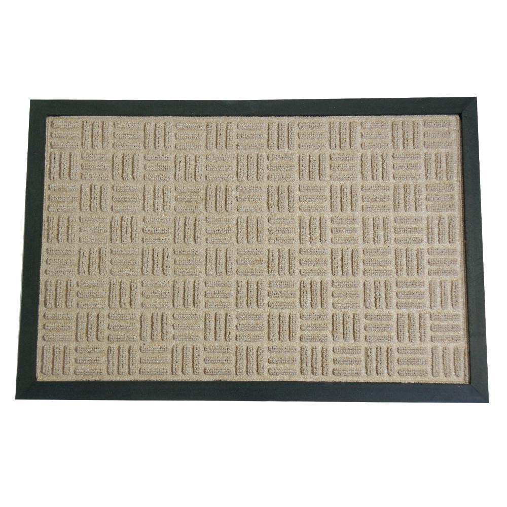 Wellington Carpet Doormat Tan 36 in. x 60 in. Rubber Carpet Mat