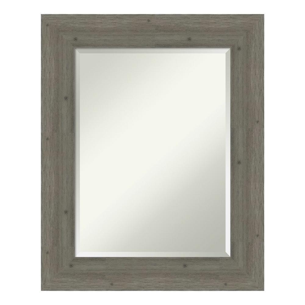 Fencepost Grey Bathroom Vanity Mirror