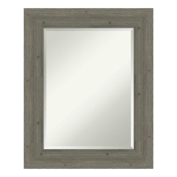 Amanti Art Medium Rectangle Distressed Grey Beveled Glass Casual Mirror 28 62 In H X 22 62 In W Dsw4094400 The Home Depot