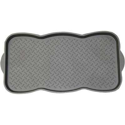 Black 15 in. x 29.50 in. Polypropylene Utility Boot Tray Mat