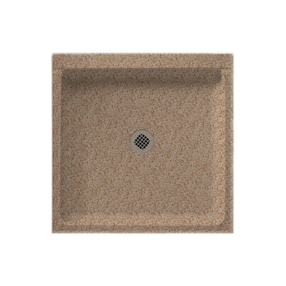 Swanstone 32 in. x 32 in. Single Threshold Shower Floor in Ironweed-DISCONTINUED