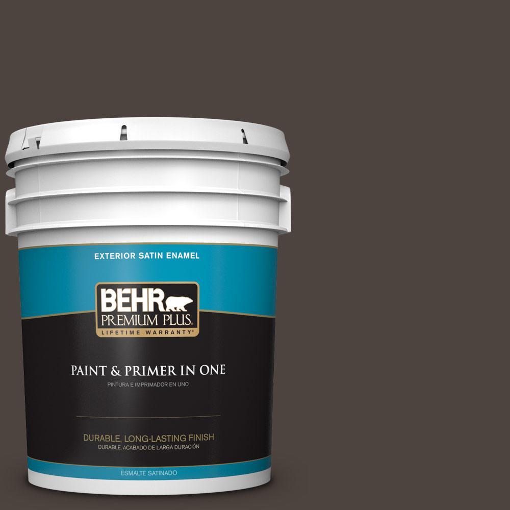 5 gal. #PPU5-01 Espresso Beans Satin Enamel Exterior Paint