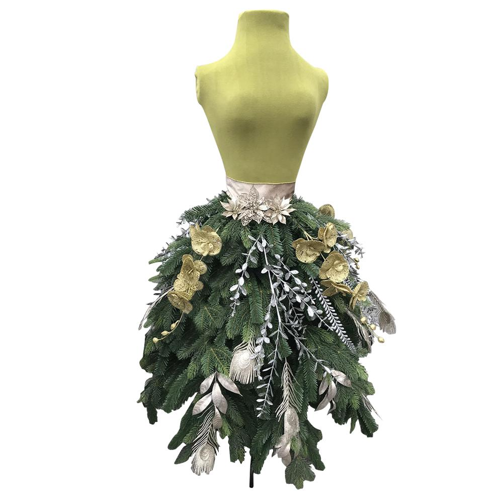 unlit dress artificial christmas tree - Christmas Tree Dress