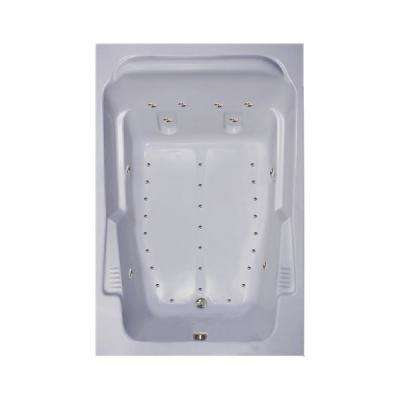 72 in. Acrylic Rectangular Drop-in Air Bathtub in White