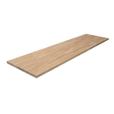 8 ft. 2 in. L x 2 ft. 1 in. D x 1.5 in. T Butcher Block Countertop in Unfinished Hevea Wood
