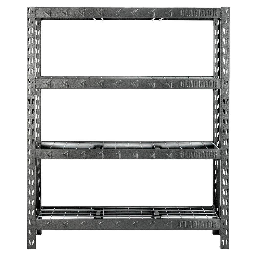 4-Shelf 60 in. W x 72 in. H x 18 in. D Welded Steel Garage Shelving Unit