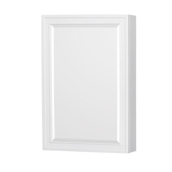 Berkeley 24 in. W x 36 in. H Framed Rectangular Bathroom Vanity Mirror in White