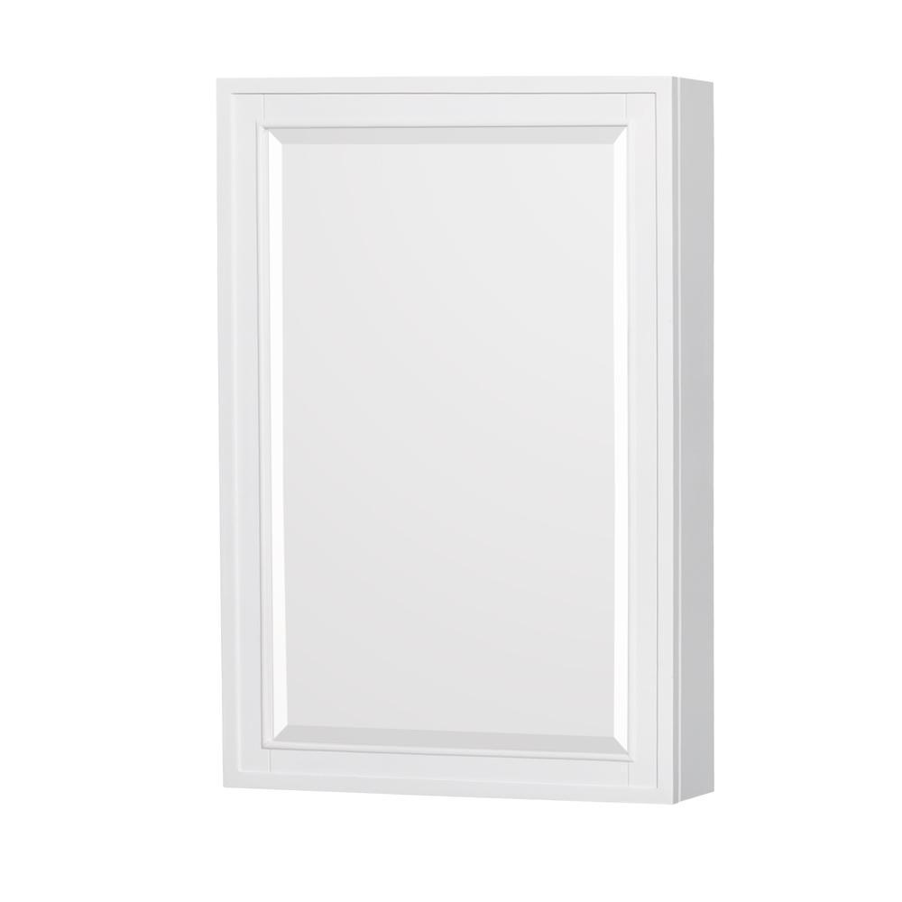 Berkeley 24 in. W x 36 in. H Framed Rectangular Bathroom Vanity Mirror in White