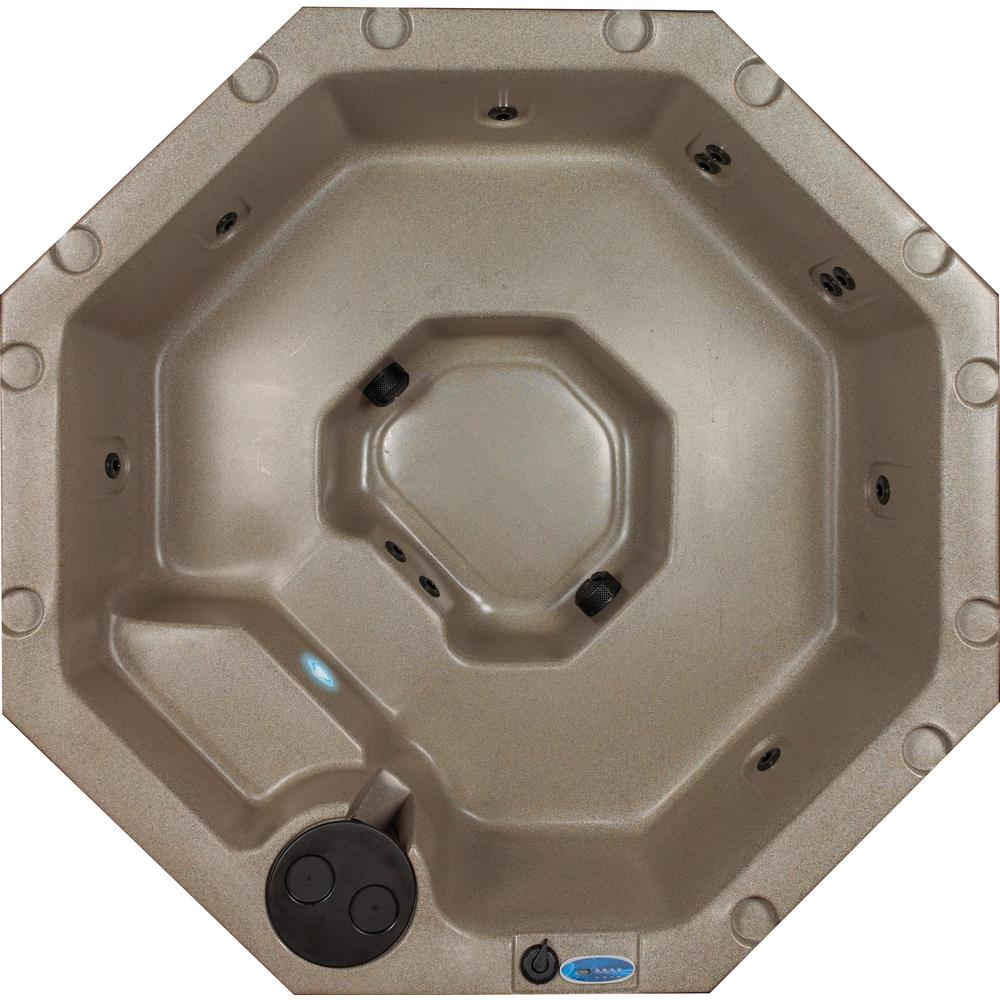 AquaLife Retreat 4-5 Person 11 Jet Standard Hot Tub Cobblestone PLUG and PLAY
