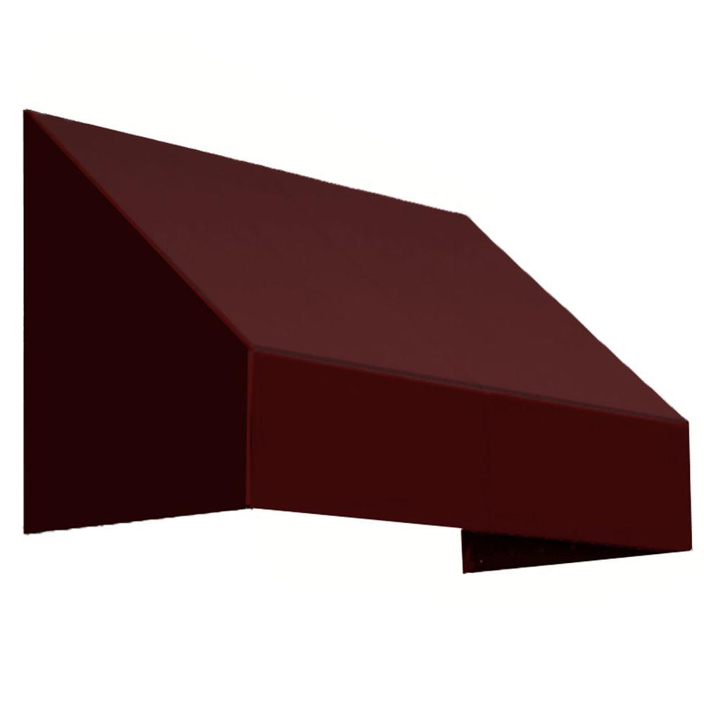 AWNTECH 4 ft. New Yorker Awning (31 in. H x 24 in. D) in Burgundy