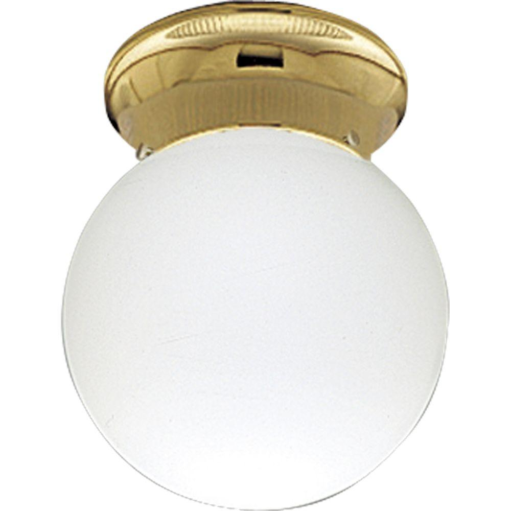 Progress Lighting Polished Brass 1-light Flushmount-DISCONTINUED
