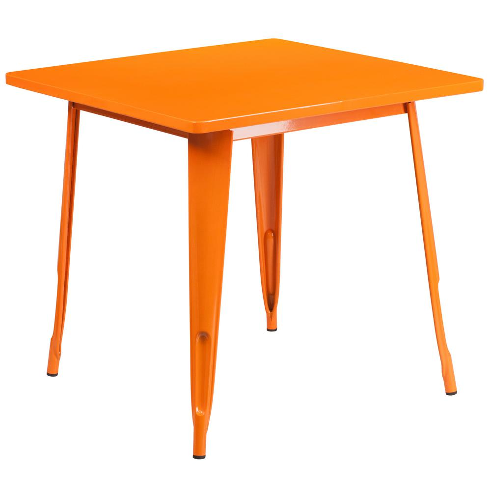 Flash Furniture Orange Square Metal Outdoor Bistro Table