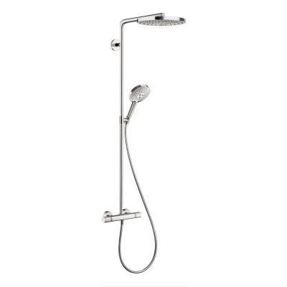 Raindance Select S 240 3-Jet Shower pipe in White/Chrome