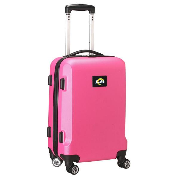 Denco Nfl Los Angeles Rams 21 In Pink Carry On Hardcase Spinner Suitcase Nflrl204 Pink The Home Depot