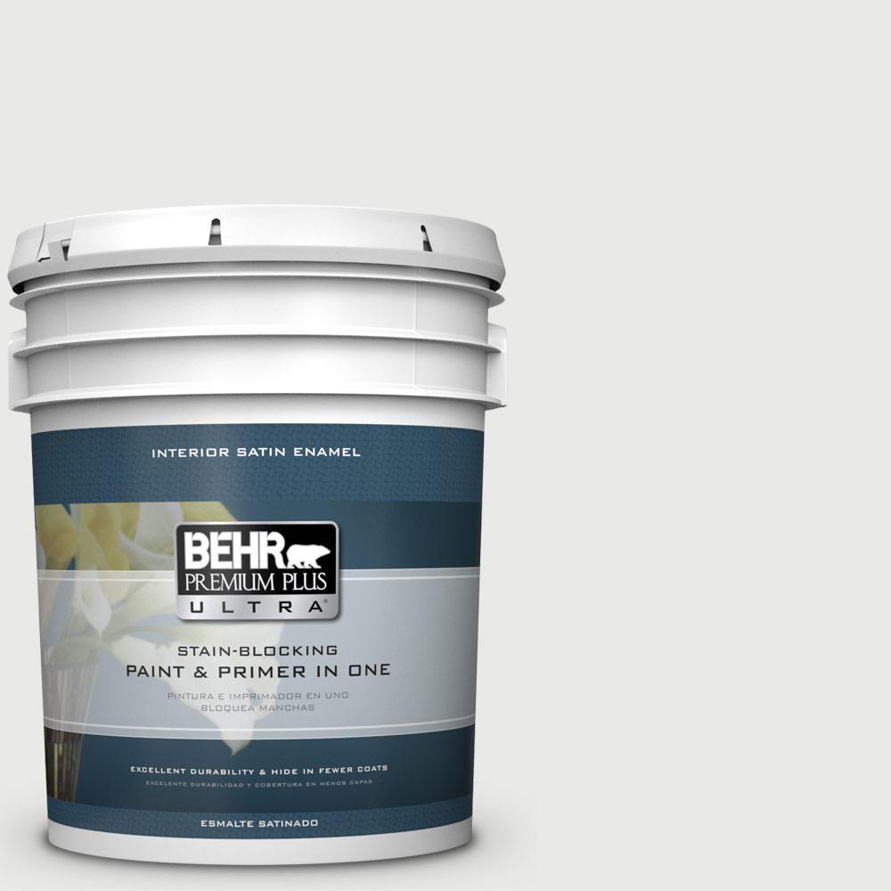 5 gal. #HDC-CT-22G Chalk Dust Satin Enamel Interior Paint